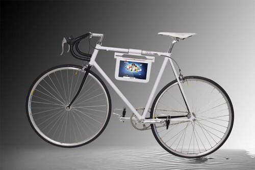 Galaxy Tab Holder attached with Bike