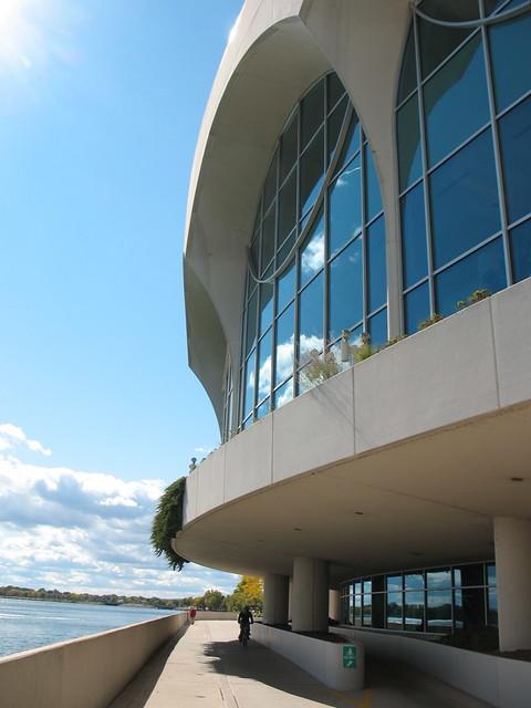 Monona Terrace, exterior, lakeside