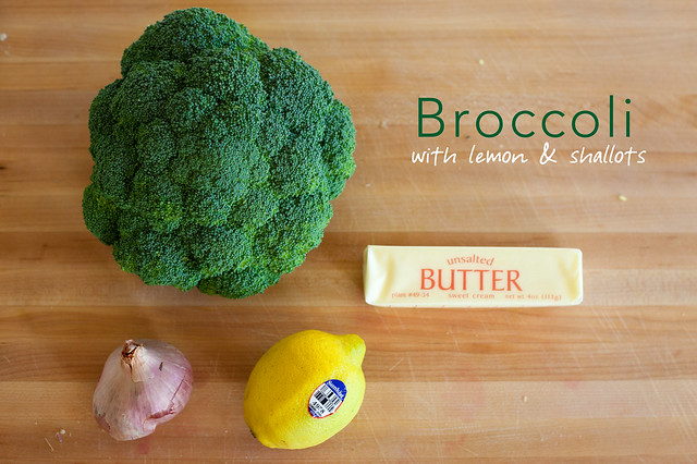 Broccoli with Lemon and Shallots : The Ingredients
