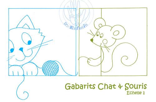 Molde gatinho x ratinho by Koisinhas da Ane