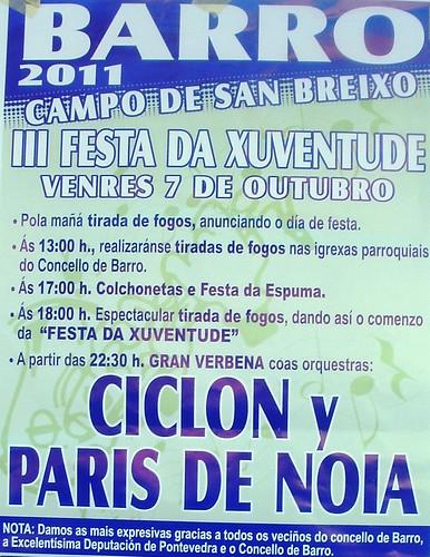 Barro 2011 - III Festa da Xuventude - cartel