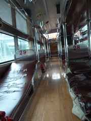Empty sleeper bus