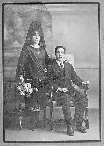Retrato de Boda de la epoca.