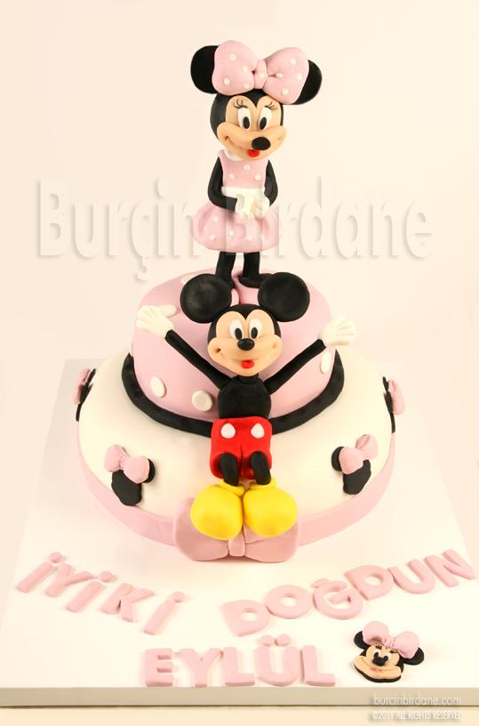 Minni Mouse Pembe Pasta
