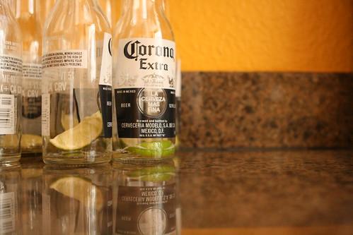 corona bottles.