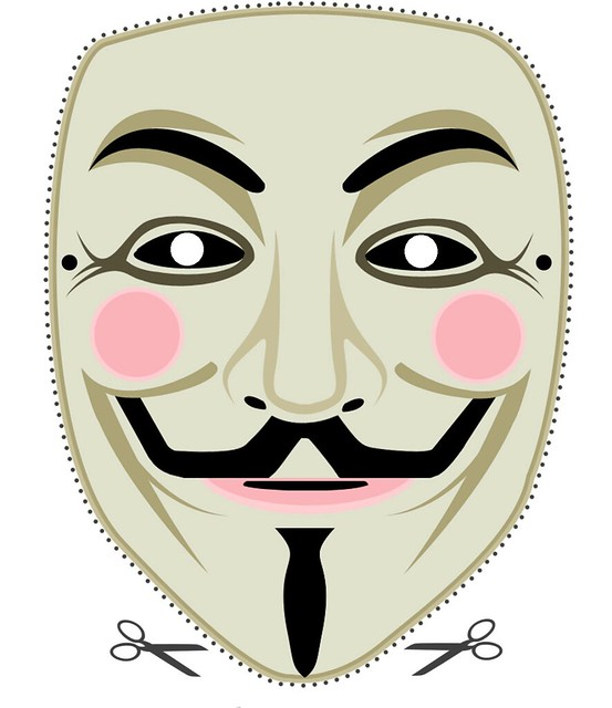 DOWNLOADABLE FAWKES MASK