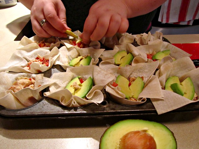 Assembling - Avocado Slices