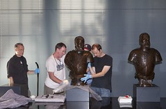 Installing the Leone Leoni busts