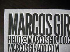 Marcos Girado Letterpress Cards