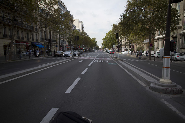Paris Bus and Cycle Lane