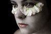Petal (Lou Bert) Tags: flowers portrait white eye art girl face make up self paint makeup pale petal
