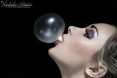Bubble (Nicholas_Thomas) Tags: woman girl studio eyes sweet lips bubble sweets bubblegum hundredsandthousands purpleeyes jellys