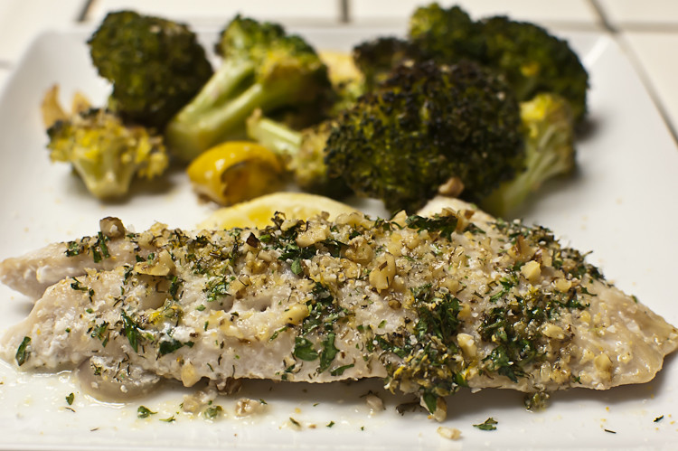 herb crusted fish...