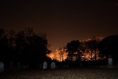 Pink Cemetery: Back Flash (Jeff Martone) Tags: road pink sky cemeteries mill cemetery night dark stars nikon october connecticut flash tripod ct creepy bone speedlight storrs mansfield sp400 Astrometrydotnet:status=failed d5100 gurleycemetery pinkcemetery pinkravine bonemillroad Astrometrydotnet:id=alpha20111067404376