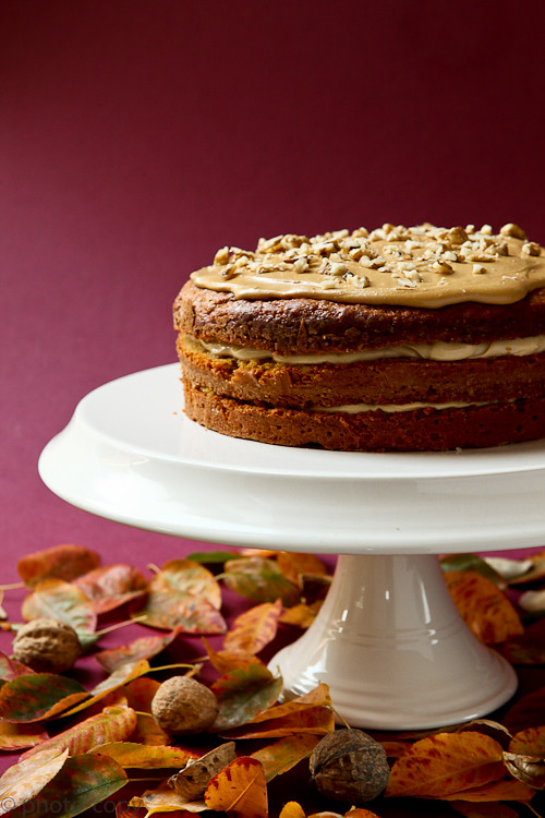 coffee walnut cake low cal!