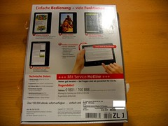 TrekStor eBook Reader 3.0, package, back (Uwe Hermann) Tags: hardware reader cc creativecommons pdf lcd ebook trekstor