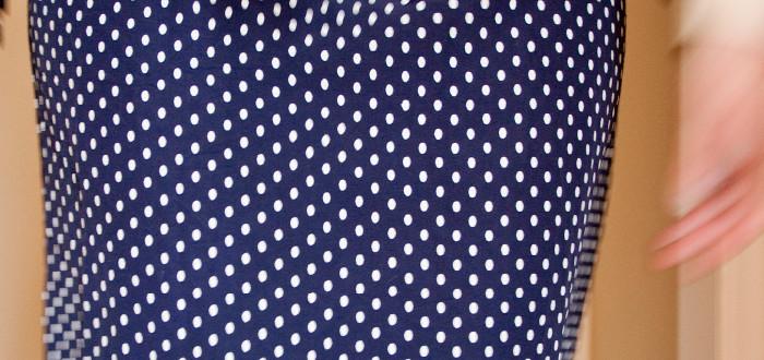 polka dots, skirt, thrifted, tilt shift