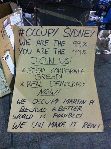 Occupy Sydney - One person's point of view