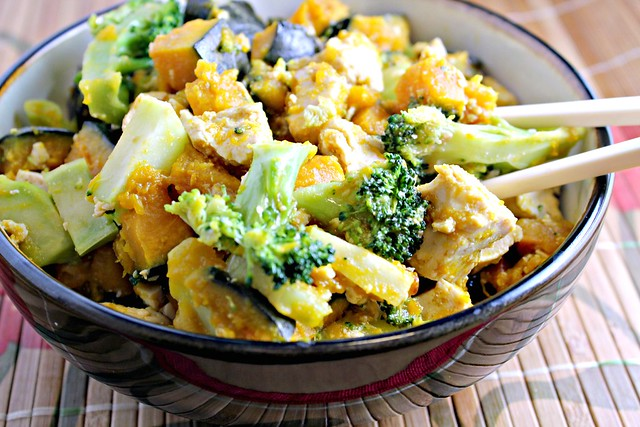 Maple-Miso Glazed Tofu with Broccoli and Winter Squash | Joanne Eats ...