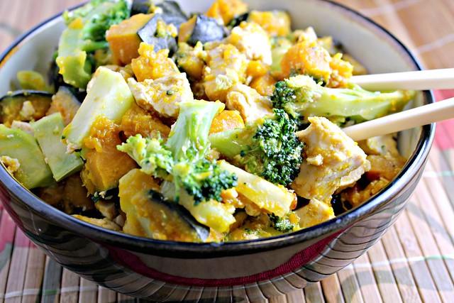 Maple-Miso Glazed Tofu with Broccoli and Winter Squash | Joanne Eats ...