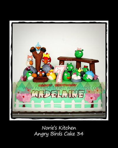 Norie's Kitchen - Angry Birds Cake 34 - Hogs and Kisses by Norie's Kitchen