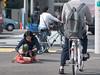 Packed dog (kasa51) Tags: street city people dog japan digital lumix panasonic yokohama f18 olympuspen 45mm gf1 totsuka mzuiko