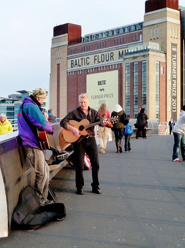 Buskers on Millennium Bridge