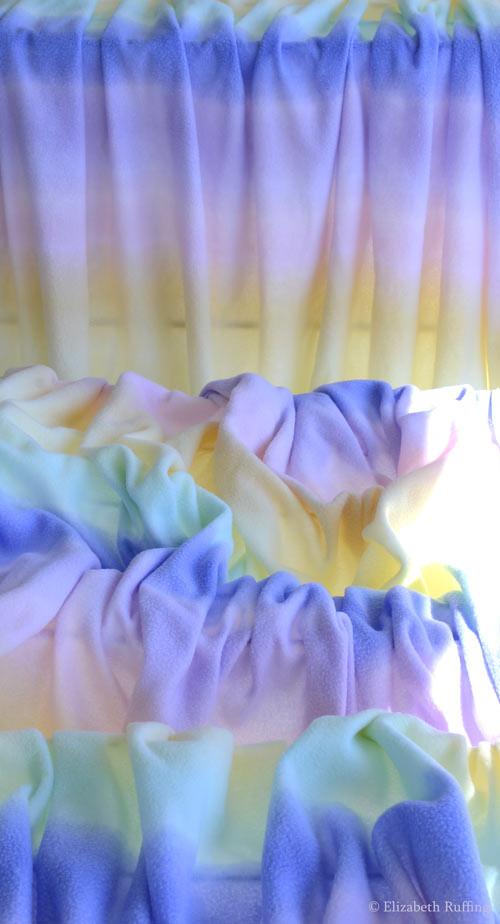 Rainbow fleece, by Elizabeth Ruffing