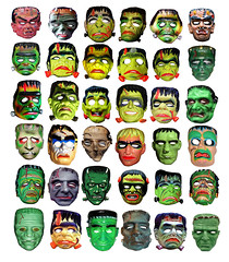 36 Frankenstein Type Monster Masks 013331 (Brechtbug) Tags: family holiday man green halloween its souls monster vintage skeleton lost island skull costume outfit scary mask ben zombie like evil s screen masks frankenstein cooper herman demon devil undead monsters alive skeletons patchwork zombies grab creature 36 thirtysix six vamp lurch munster addams cadaver thirty collegeville groovie frankensteins ghoulie