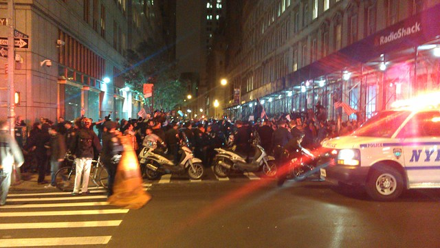 Arrests & nets at Bway & Reade #ows #occupywallstreet