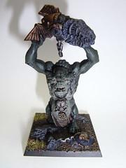 Troll with Stone (kabankuru) Tags: miniatures warhammer troll modelling wargames gamesworkshop