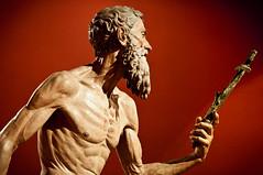 Jerónimo (campra) Tags: red sculpture man saint statue sevilla spain cross prayer jerome hermit penitent penitente jerónimo museodebellasartes torrigiano