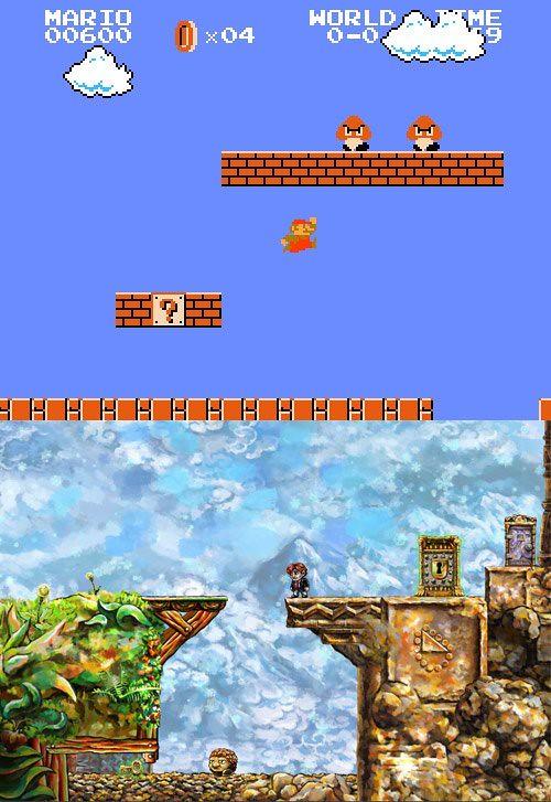 Mario Brothers vs Braid