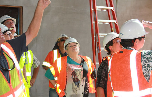Board of Regents tour the new UH West Oahu campus construction site