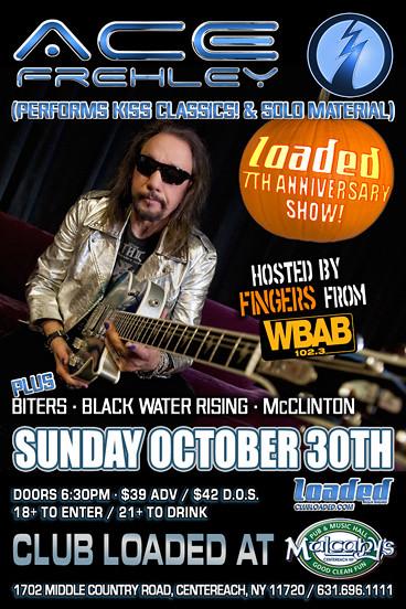 10-30-11 Ace Frehley @ Mulcahy's, Centereach, LI, NY