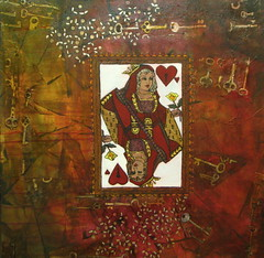 What Women Want (Sold) (Sushma Sabnis) Tags: men artwork women queenofhearts artpainting sushmasabnis acryliconcanvas mixedmediaoncanvas