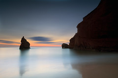 Iles de la madeleine (Dan. D.) Tags: ocean sunset sea sky seascape water rock canon landscape 5d mkii sunraise 1635mm