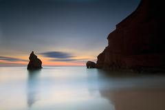 Iles de la madeleine (Dan. D.) Tags: ocean sunset sea sky seascape water rock canon landscape 5d mkii sunraise 1635mm