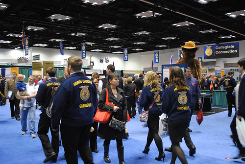Attendees visit booths at the National FFA Convention.  AMS was one of 300 exhibitors at the event in Indianapolis.