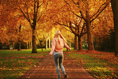 (Noukka Signe) Tags: november autumn trees fall colors girl leaves project 365 signe noukka