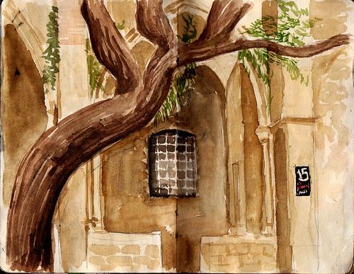 33th SketchCrawl. El Raval ( Antic Hospital de la Santa Creu )