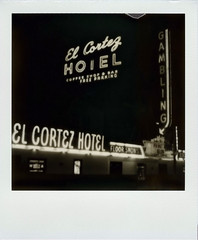 El Cortez (Nick Leonard) Tags: city nightphotography vegas blackandwhite white gambling black classic film sign bar night analog vintage dark polaroid lights hotel downtown neon lasvegas nevada tripod nick coffeeshop casino scan retro timeexposure nighttime signage arrow fremontstreet freeparking timeless acehotel nightfall elcortez polaroidsx70 polaroidlandcamera instantfilm epson4490 polaroidsx70sonaronestep polaroidsx70sonar integralfilm nickleonard eastfremontstreet floorshows 600asa silvershade theimpossibleproject ndpackfilter px600 px600uv sx70tripodmount