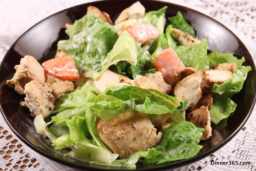 Day 308 - Baked Chicken Salad with Creamy Masala dressing