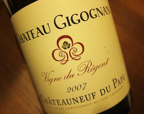 2007 Chateau Gigognan Vigne de Regent