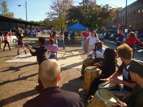 Shreveport Hoop Group, Shreveport Community Drum Circle, Maker's Fair / Shreveport / Nov '11 by trudeau