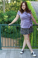 12 Outfit - Saddle Oxfords and vintage skirt