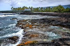 Royal Grounds Oceanfront (Explored) (HawaiianVirtualTours) Tags: ocean beach coral landscape hawaii lava nikon surf waves pacific tidepools kona kailua oceanfront cityofrefuge bigislandofhawaii royalgrounds puuhonauohonaunau nikond7000 mygearandme hawaiianvirtualtours