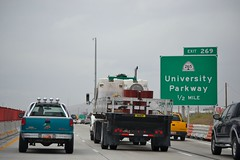 northbound I-15 at University Parkway  exit 269 (CountyLemonade) Tags: construction freeway signage provo wasatchfront i15 interstate15 bgs utahcounty biggreensign i15core