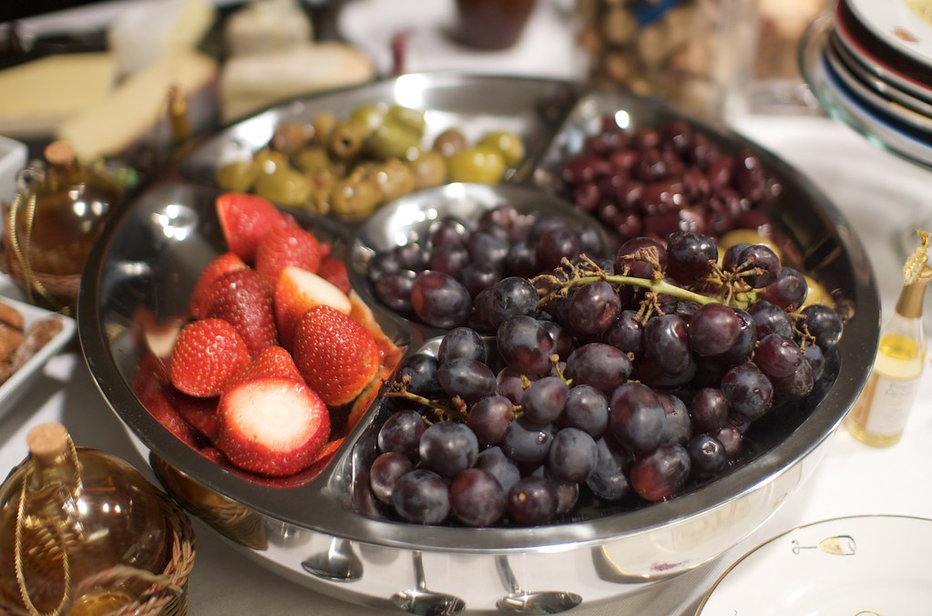 Fruit and olives