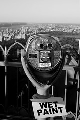 Attention when viewing (paikeaa) Tags: nyc bw newyork manhattan topoftherock schwarzweis totr